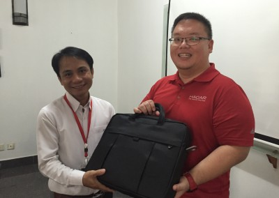 "Pre-used laptops from Thomson-Reuters were donated to the ""catch up"" school."