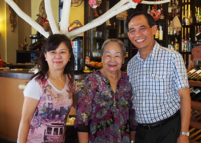 Paul and Miriam with hotel owner