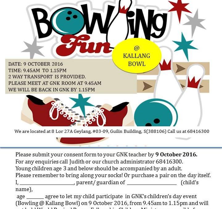 GNK Children's Day Celebration @Kallang Bowl 9 Oct 2016