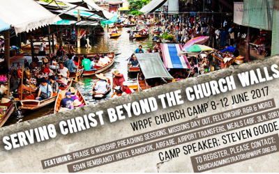 WRPF CHURCH CAMP 8 – 12 JUNE 2017