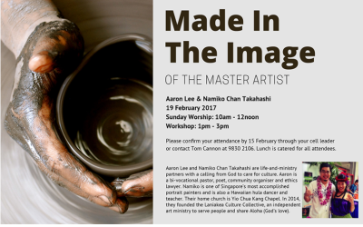 Made In The Image Of the Master Artist – Workshop