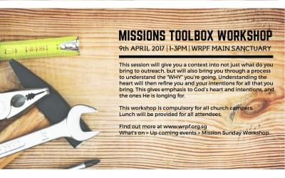 Missions Sunday Toolbox Workshop