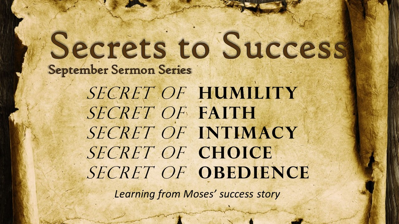 Secrets of Success - life of Moses